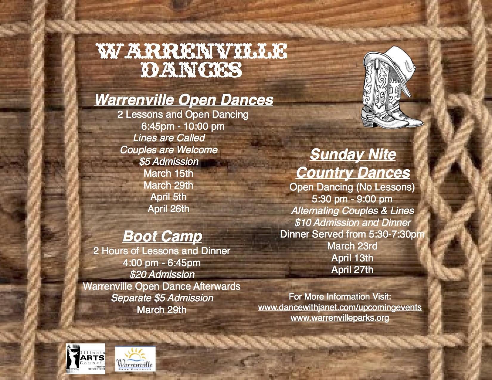 Couples5 dance instruction with a personal touch line dancing - Warrenville_dances_flyer