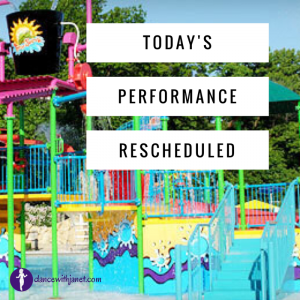 Performance Rescheduled