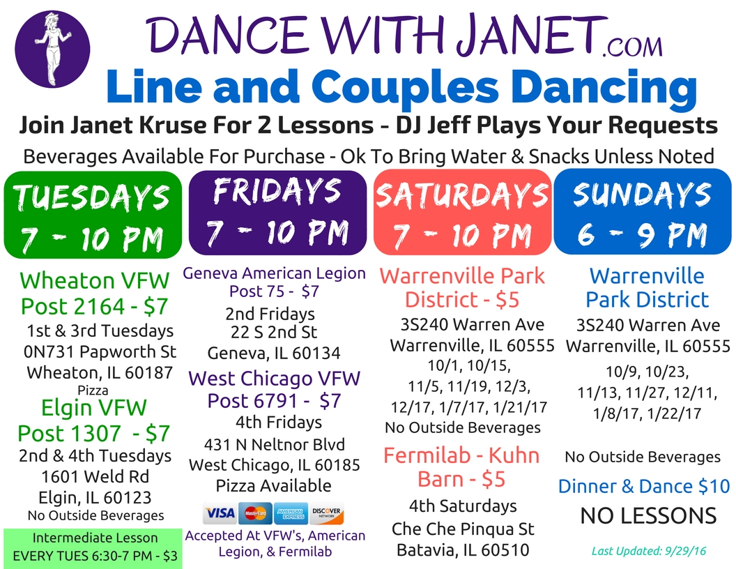 Couples5 dance instruction with a personal touch line dancing - Dances_flyer_092816